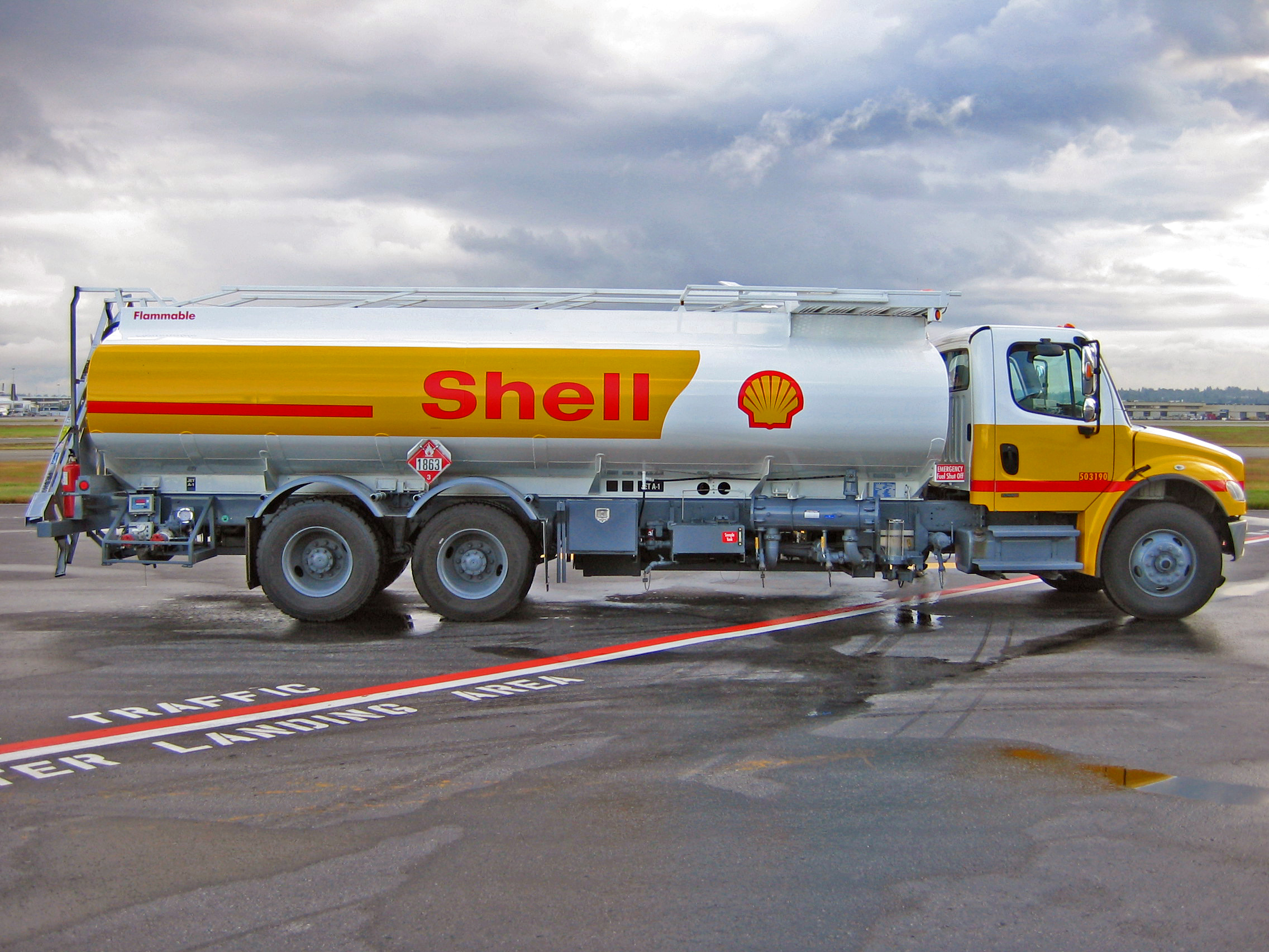 Shell Oil Truck. Photo by Lommer. Released under the GNU Free Documentation License.