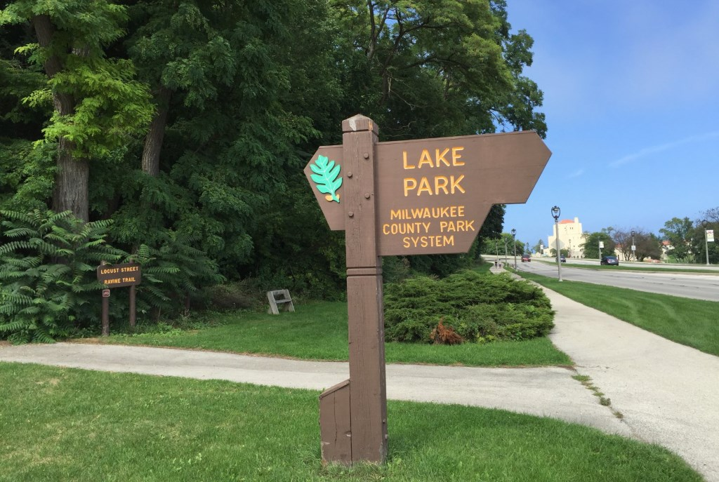 Lake Park sign. Photo by Dave Reid.