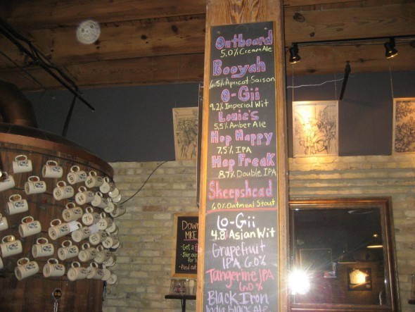 Available beers. Photo by Michael Horne.