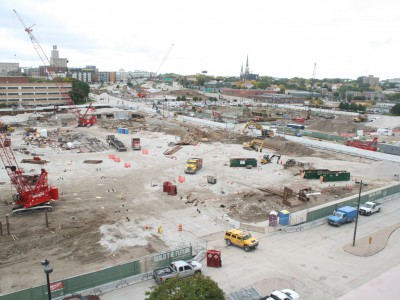 Friday Photos: New Bucks Arena From Above
