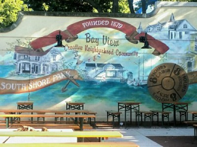 Prost! To MillerCoors, Mural Artist at South Shore Terrace, Oct. 19