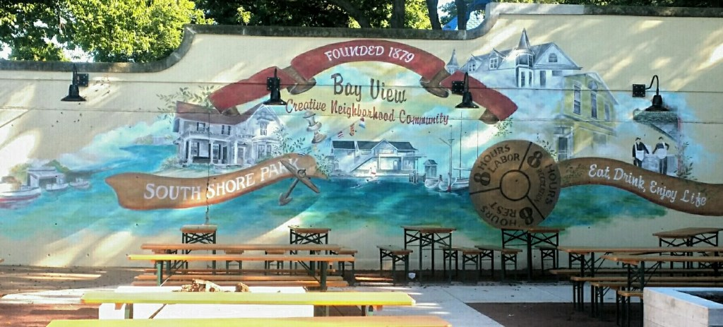Prost! To MillerCoors, Mural Artist at South Shore Terrace, Oct. 19. Photo from Milwaukee County Parks.