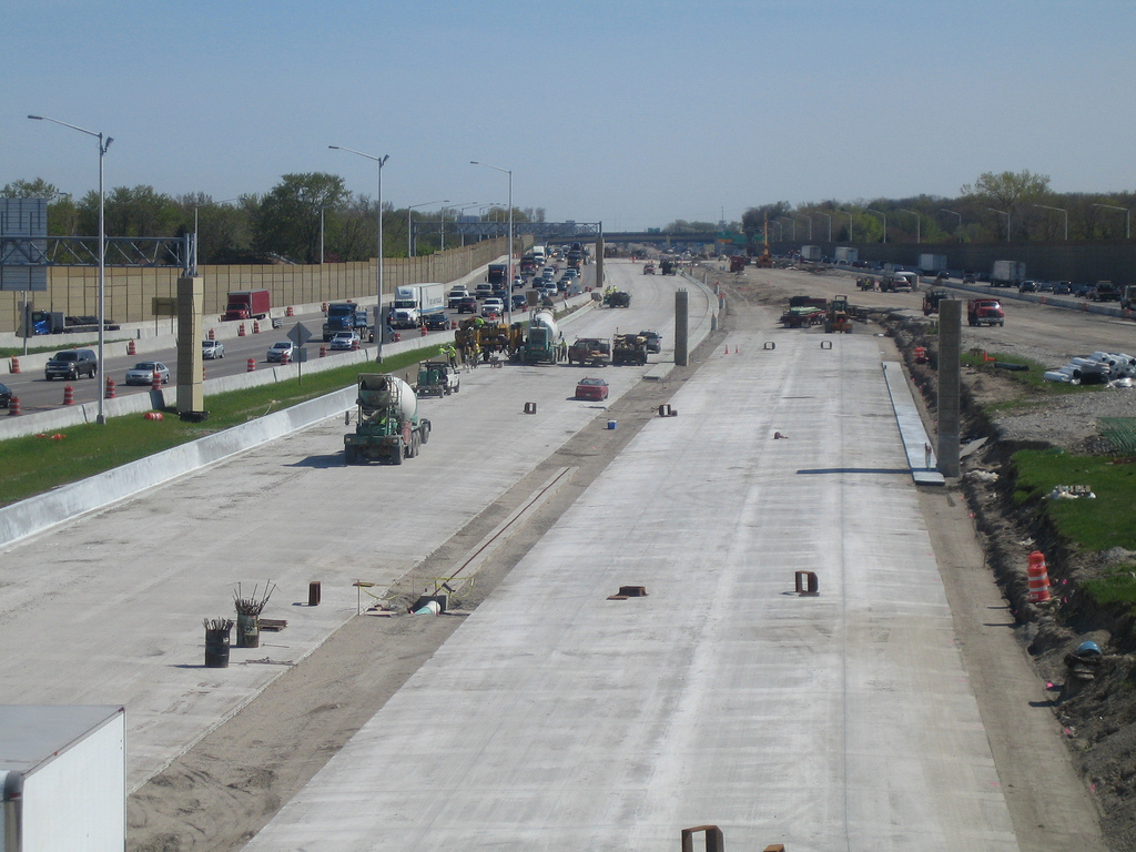 Interstate 94 Construction. Photo by Jeramey Jannene