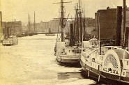 Sailing Vessels and Steamers, 1860s. Image courtesy of Jeff Beutner.