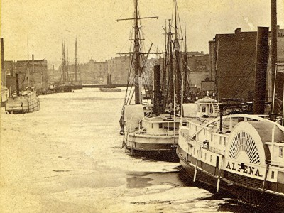 Yesterday's Milwaukee: Sailing Vessels and Steamers, 1860s