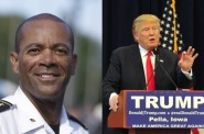 David Clarke and Donald Trump.