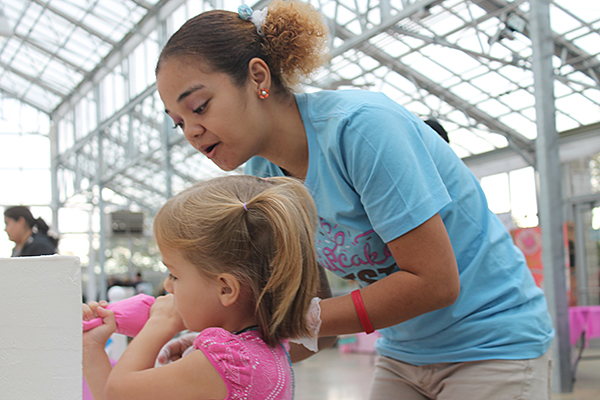 Community cake decorating. Photo courtesy of Milwaukee County Parks.