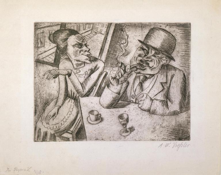 Conversation - August Wilhelm Dressle