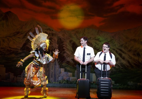 Monica L. Patton, Ryan Bondy, Cody Jamison Strand - The Book of Mormon (c). Photo by Joan Marcus 2016.