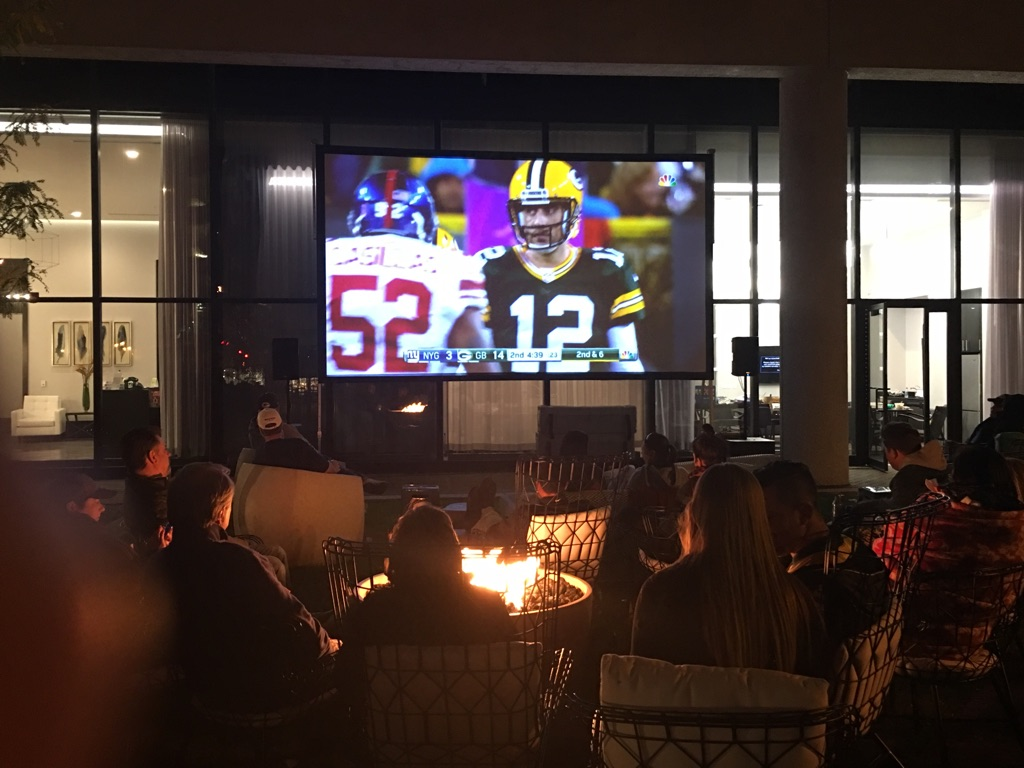 Packer Party at The Buckler Apartments.