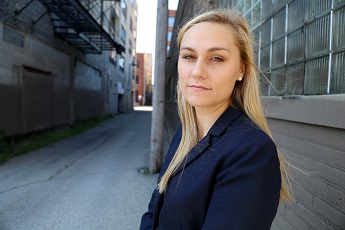 """Sarah Grady, who leads the Prisoners' Rights Project for Loevy & Loevy, a Chicago civil rights law firm, has researched the history of felony disenfranchisement in Kentucky. Grady calls the process ex-prisoners must go through to regain voting rights """"a silly draconian law."""" Photo courtesy of Loevy & Loevy."""