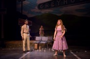 Lamar Jefferson (Flick), Ella Rose Kleefisch (young Violet) and Allie Babich (Violet) in Skylight Music Theatre's Violet. Photo by Mark Frohna.