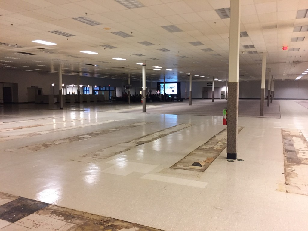 A Conference in a empty Shopko?