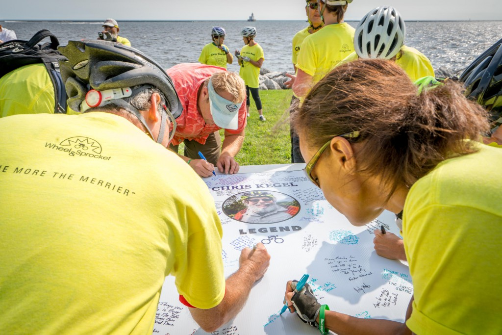 More than 1,000 people wrote their well wishes to Chris at Lakeshore State Park