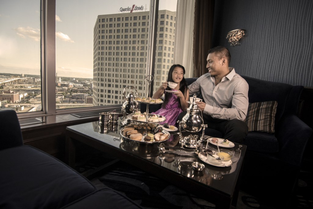 Afternoon Tea at The Pfister Hotel Begins October 21. Photo courtesy of Marcus Hotels & Resorts.