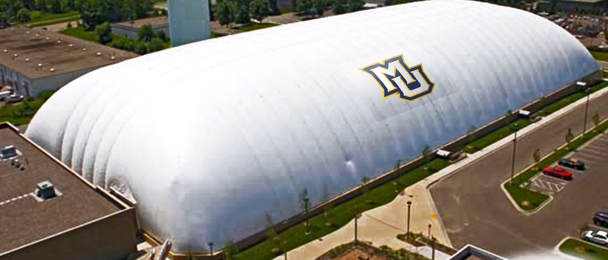 This is a model image of a season dome, not the specific location. Image courtesy of Marquette University.