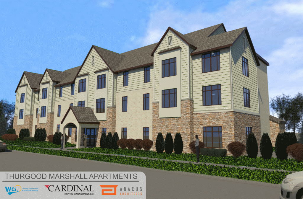 Thurgood Marshall Apartments Rendering.