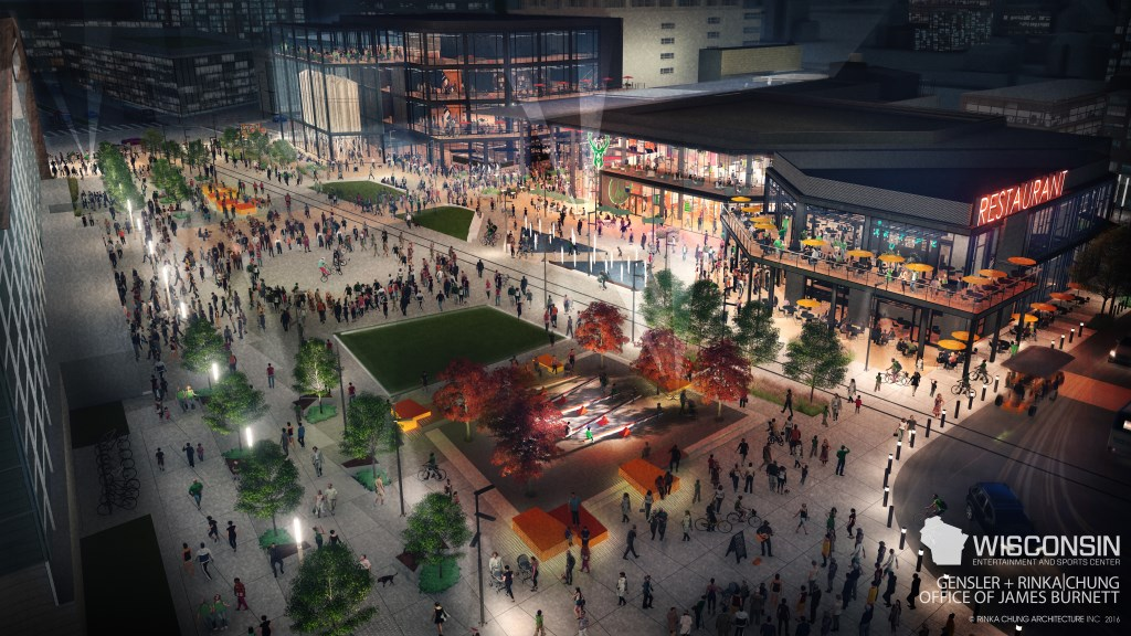 Bucks Release Renderings of Entertainment Block