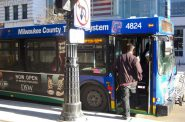 Policy experts warn that a decision not to implement a vehicle registration fee could have profound consequences for Milwaukee bus riders. Photo by Alhaji Camera.