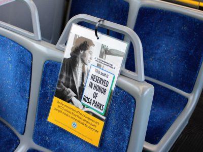 MCTS and County Executive Chris Abele Honor Rosa Parks with Headlight Tribute & Reserved Bus Seat