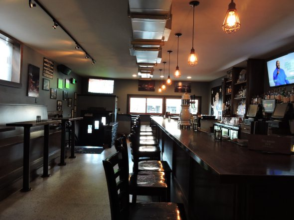 The bar at Malone's on Brady. Photo by Aubryana Bowen.