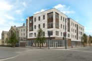 The Griot Apartments - N. 4th St. and W. North Ave. View. Rendering by Engberg Anderson Architects.