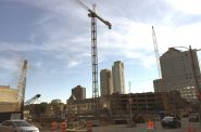 Northwestern Mutual's residential apartment building under construction in downtown Milwaukee. Photo by Dave Reid.