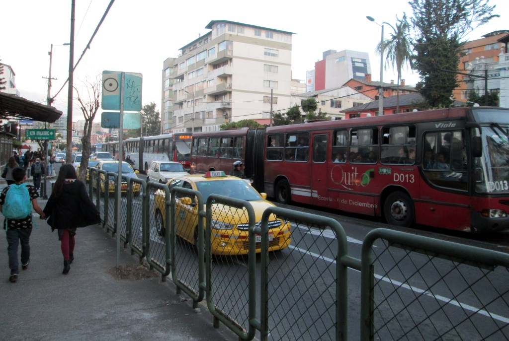 Quito's BRT. Photo by Ken Smith.