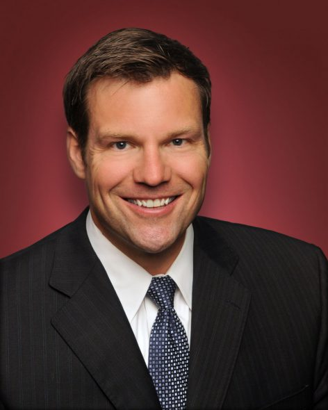 Kris W. Kobach, Kansas Secretary of State. Photo by Walt Whitaker from the State of Kansas.