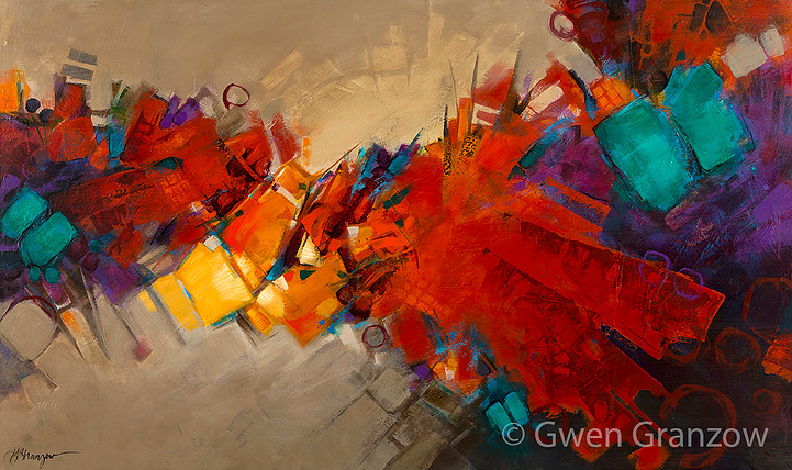 "Urban Renewal by Gwen Granzow, 60"" X 36"", acrylic on canvas. Photo courtesy of Milwaukee County Parks."