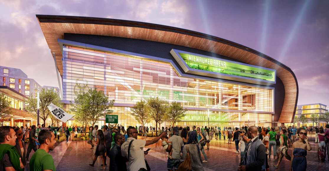 Bucks Arena rendering.