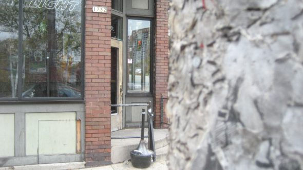 Utility pole outside of the Eastsider. Photo by Michael Horne.