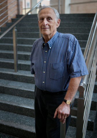 "Mel Weinswig, professor emeritus and former dean of University of Wisconsin-Madison School of Pharmacy, says, ""You have drugs that used to be pennies that are now selling for a dollar a capsule."" Photo by Coburn Dukehart of the Wisconsin Center for Investigative Journalism."