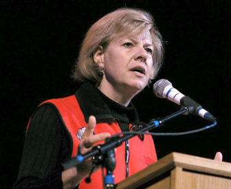 Sen. Tammy Baldwin, seen in this file photo, has introduced legislation requiring drug companies to alert the federal government before increasing a product's price by 10 percent or more. Photo courtesy of the office of Tammy Baldwin.