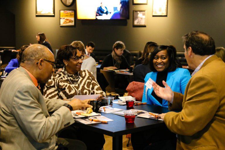 Milwaukee employers converse at the YWCA Employer Summit. Photo by Allison Steines.
