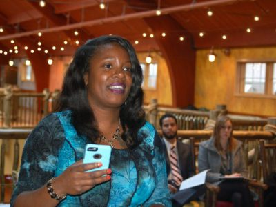 Entrepreneurs Pitch Ideas At Conference