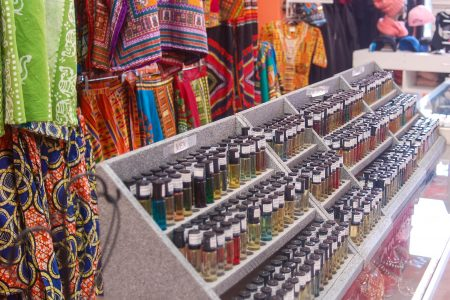 Birdsong's is known for an expansive stock of body, perfumed and essential oils, African-themed jewelry, clothing and spiritual items. Photo by Clara Hatcher.