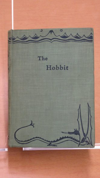First edition, first printing copies of The Hobbit by J.R.R. Tolkien. Photo courtesy of Marquette University.