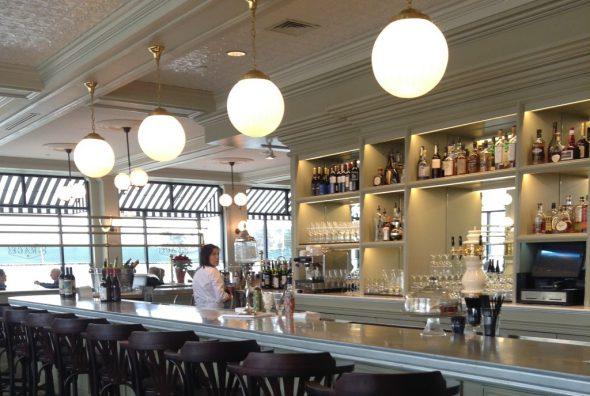 The bar at Café Grace. Photo by Cari Taylor-Carlson.