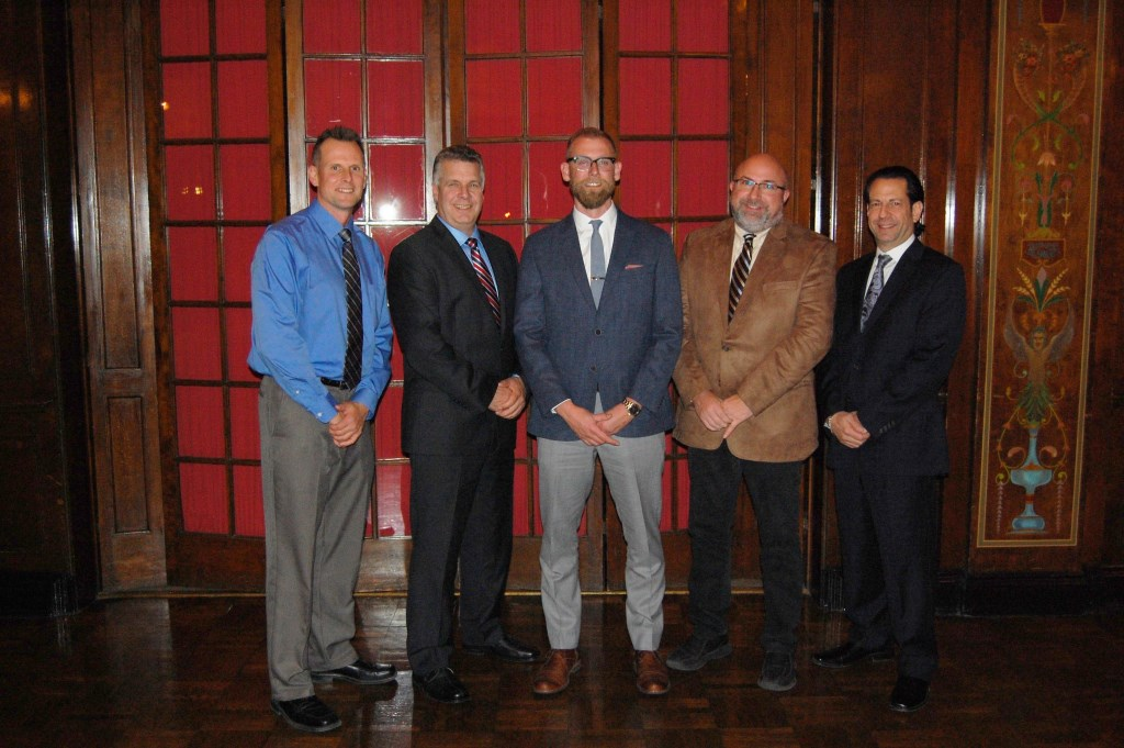 The 2017 Milwaukee NARI Executive Officers: (l-r) Tom Mainville, CR, Secretary; Bingo Emmons, CR, UDCP, CRPM, Treasurer; Josh Brown, President; Dan Callies, CR, UDCP, Immediate Past President; and Chris Egner, MCR, CKBR, UDCP, CRMP, Vice-President. Photo courtesy of the Milwaukee NARI.