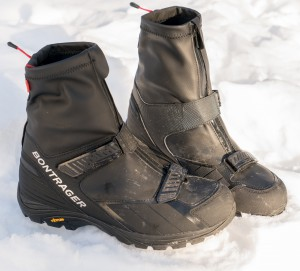 They look like a cross between galoshes and cycling boots to me.