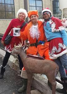 Sheboygan Santa and a couple fellow holiday hecklers.