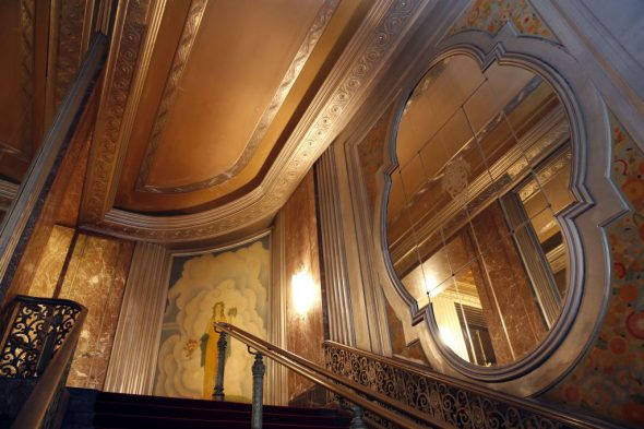 Stairway in the Grand Warner Theater. Photo by Jonathan Kirn.