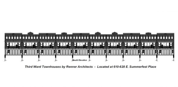 South Elevation for for 610 E. Summerfest Pl.