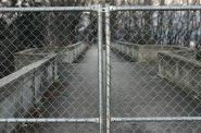 The bridge of Ravine Road in Lake Park is closed.