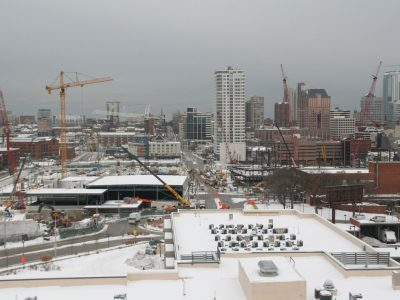 Friday Photos: Arena Rises from Frozen Tundra