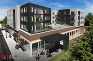 MLK Library proposal by Young Development Group, LLC. Rendering by JLA Architects.