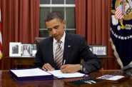 "President Barack Obama signs H.R. 2751, the ""FDA Food Safety Modernization Act,"" in the Oval Office, Jan. 4, 2011. Official White House Photo by Pete Souza. Photo is in the Public Domain."