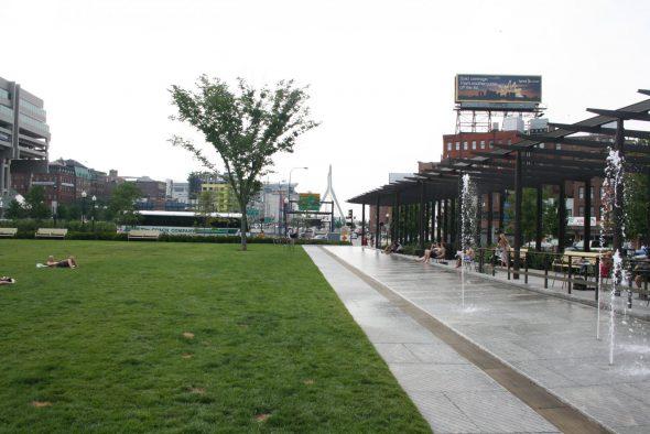 The Rose Fitzgerald Kennedy Greenway in Boston. Photo by Jeramey Jannene.