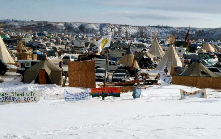 A recent photo of Oceti Sakowin Camp. Photo courtesy of Daniel Guzman.